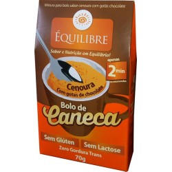 BOLO DE CANECA DE CENOURA COM CHOCOLATE SEM GLUTEN