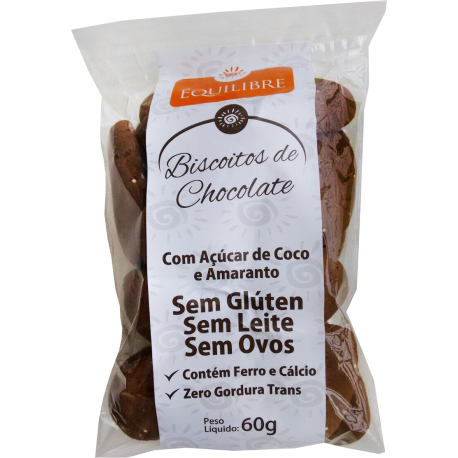 BISCOITO CHOCOLATE S/GLUTEN 60G