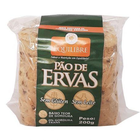 PAO DE ERVAS SEM GLUTEN 200G